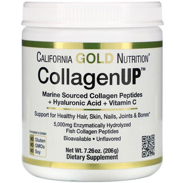 California Gold Nutrition, CollagenUP, marines Kollagen + Hyaluronsäure + VitaminC, geschmacksneutral, 206g (7,26oz.)